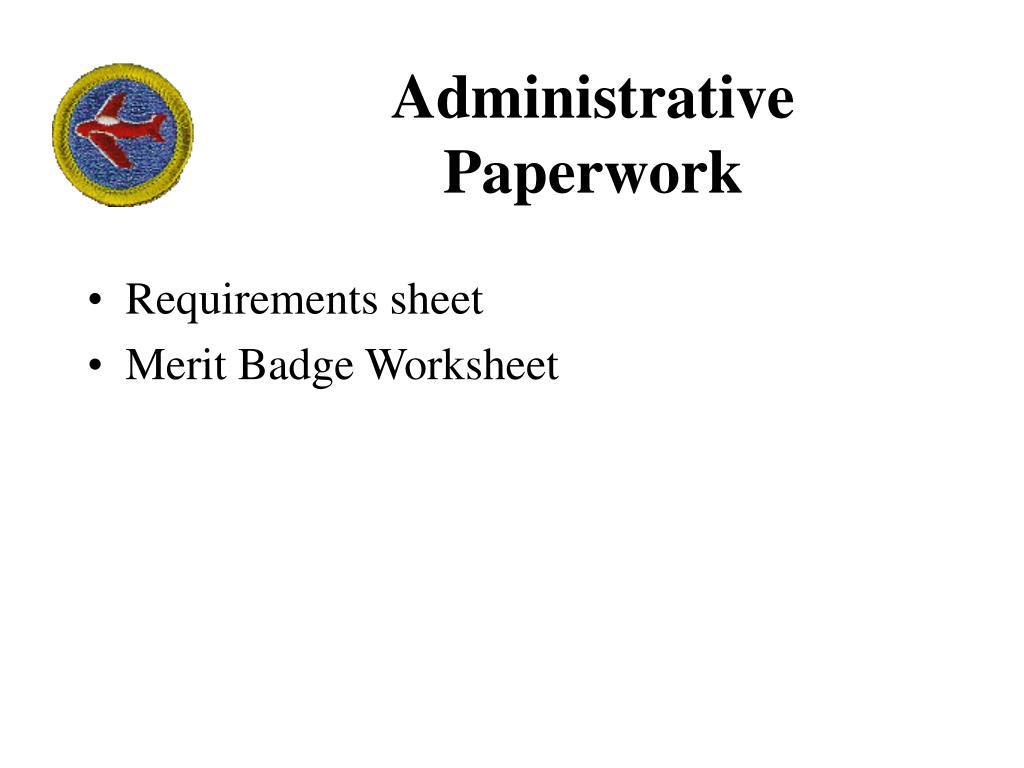 Administrative Paperwork