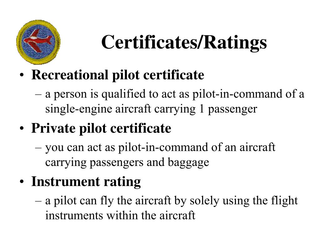 Certificates/Ratings