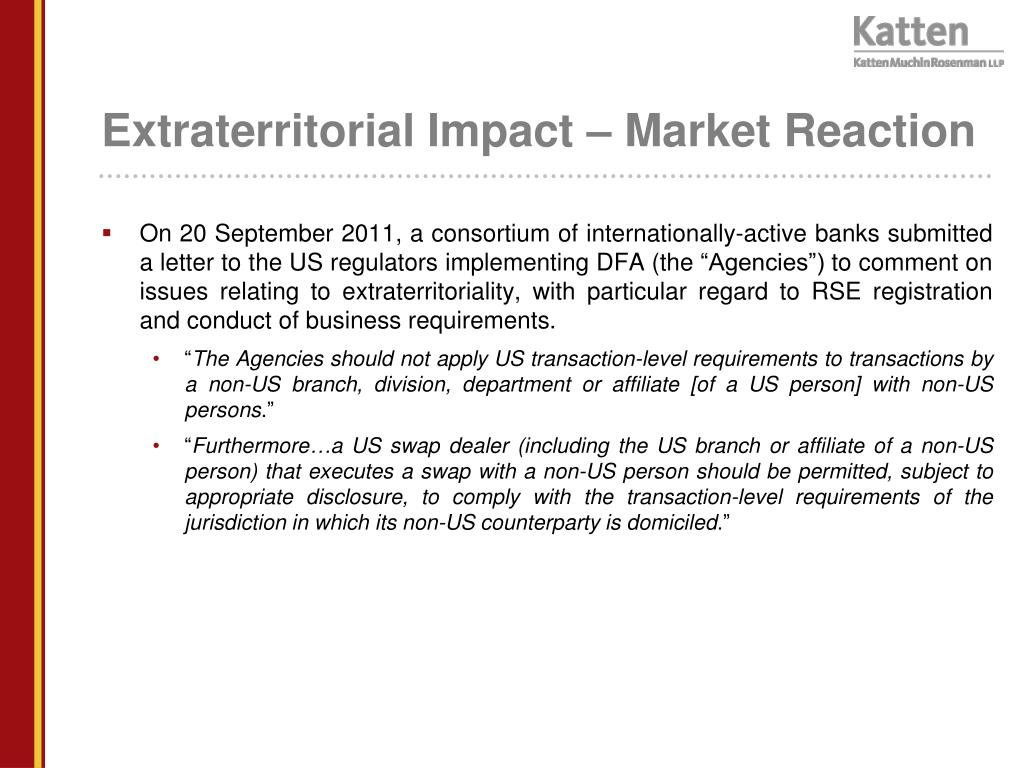 Extraterritorial Impact – Market Reaction