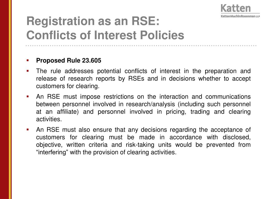 Registration as an RSE: