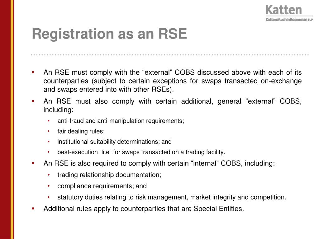 Registration as an RSE