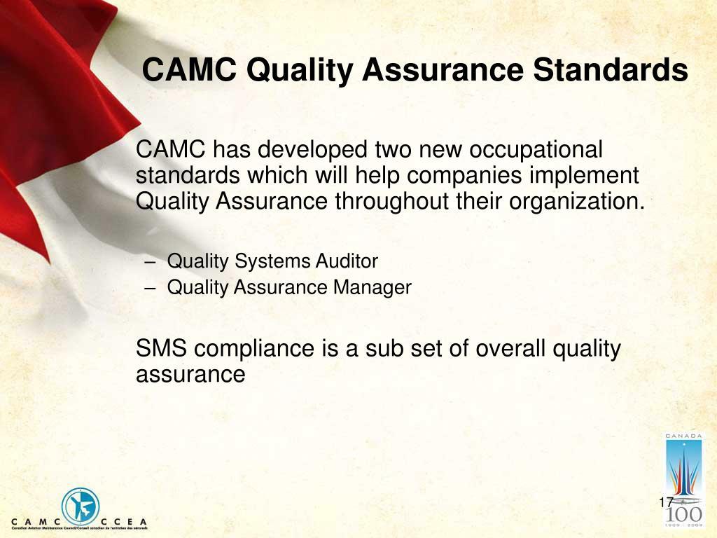 CAMC Quality Assurance Standards