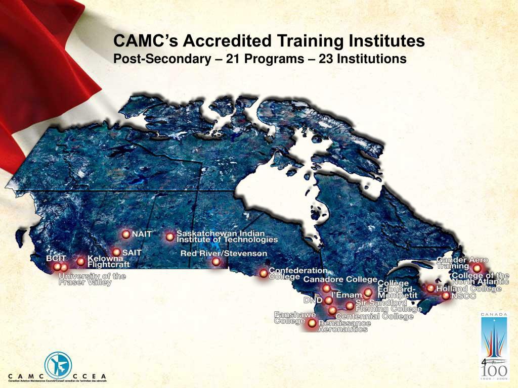 CAMC's Accredited Training Institutes
