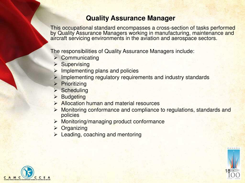 Quality Assurance Manager