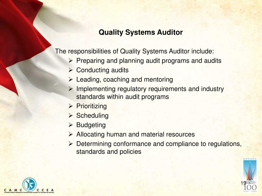 Quality Systems Auditor