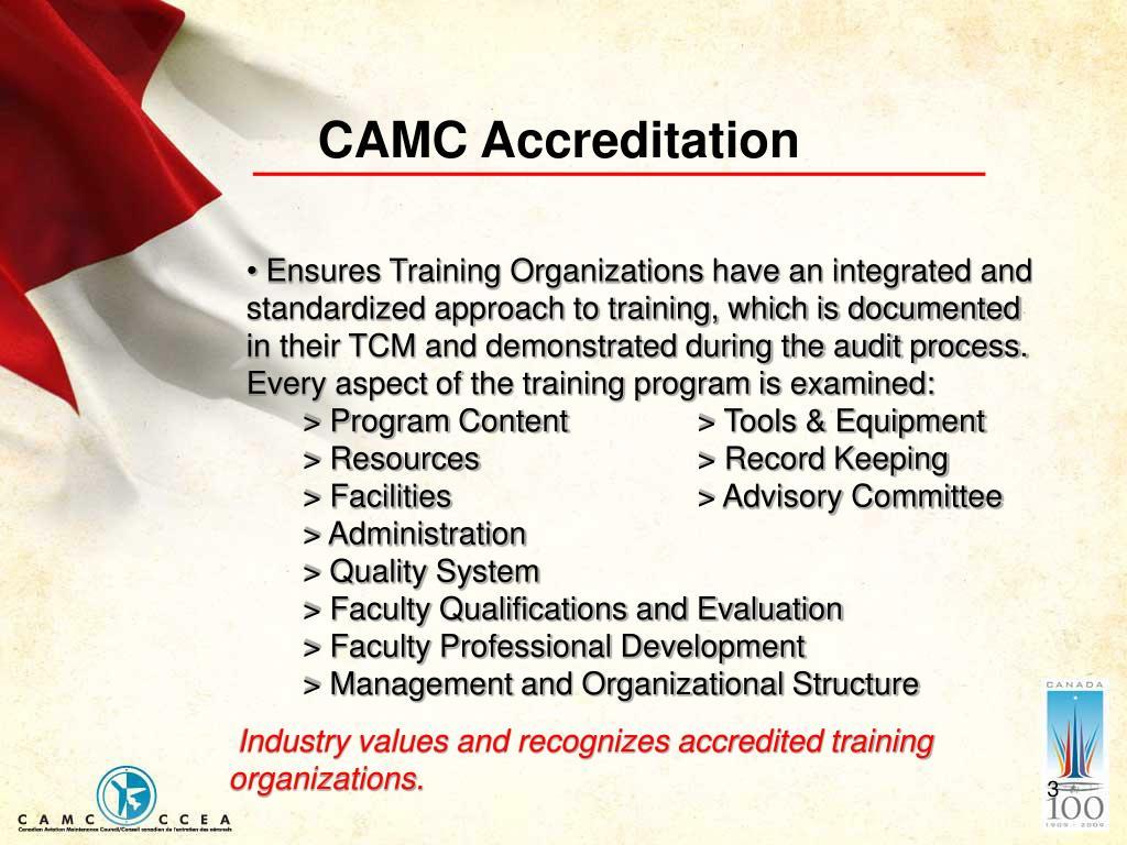 CAMC Accreditation