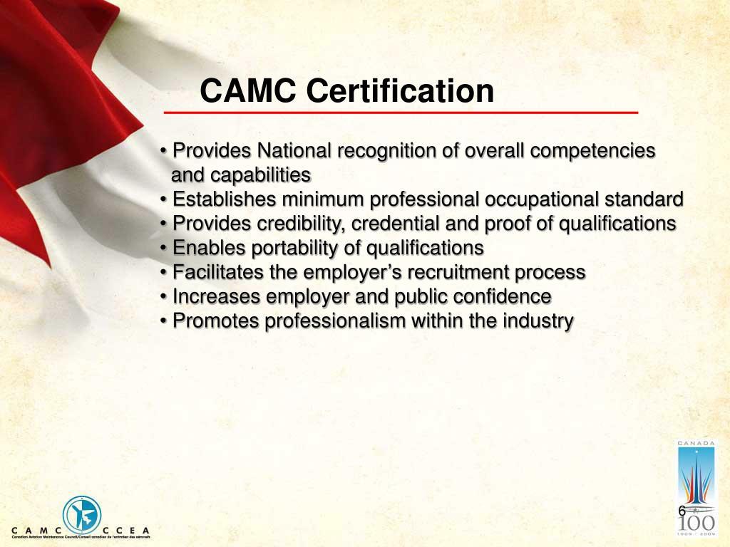 CAMC Certification