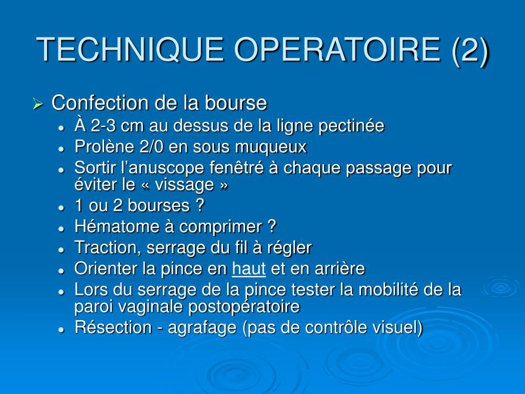 TECHNIQUE OPERATOIRE (2)