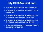 city reo acquisitions