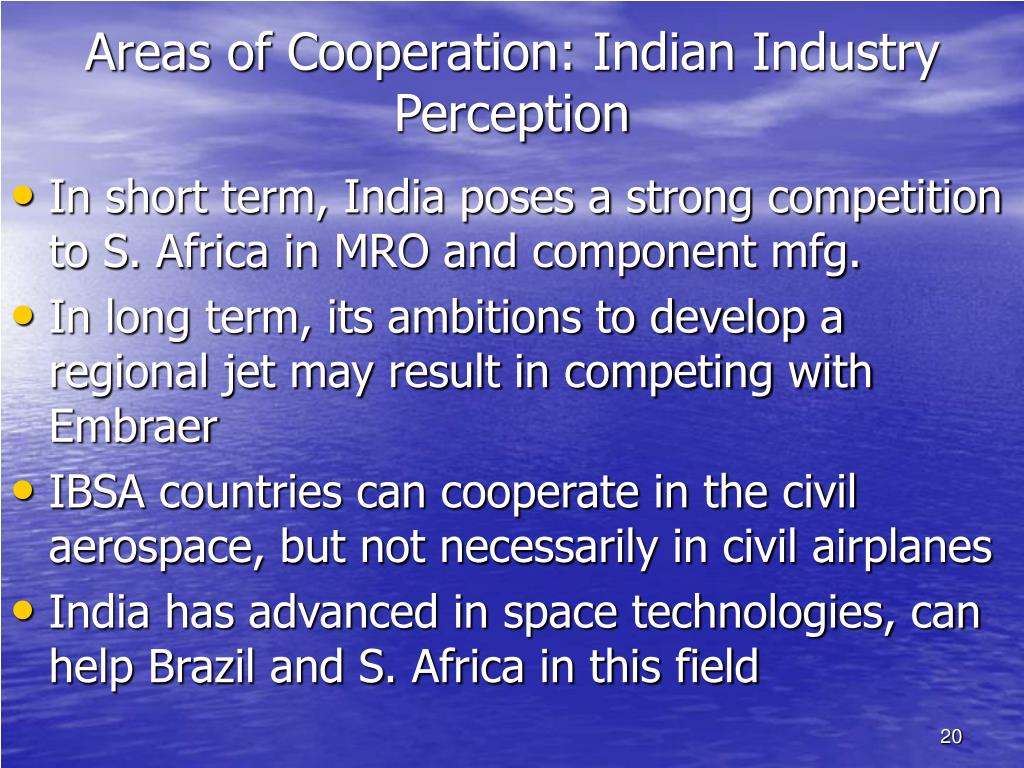 Areas of Cooperation: Indian Industry Perception