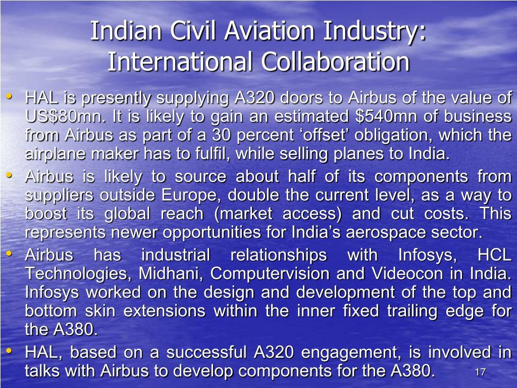 Indian Civil Aviation Industry: International Collaboration