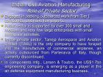 indian civil aviation manufacturing role of private sector
