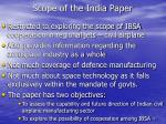 scope of the india paper