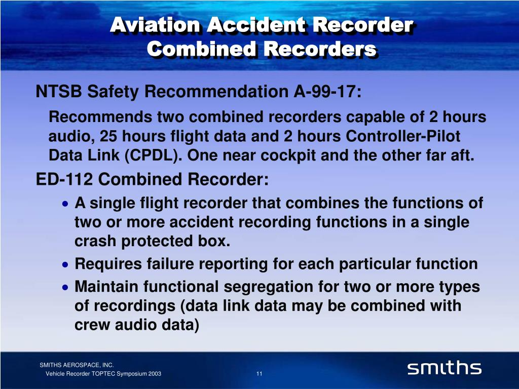 Aviation Accident Recorder