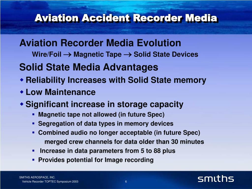Aviation Accident Recorder Media