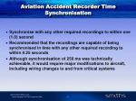 aviation accident recorder time synchronisation