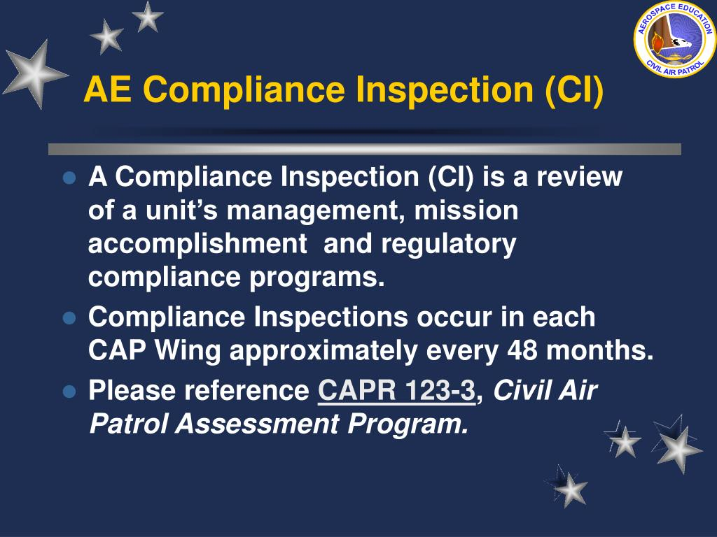 AE Compliance Inspection (CI)