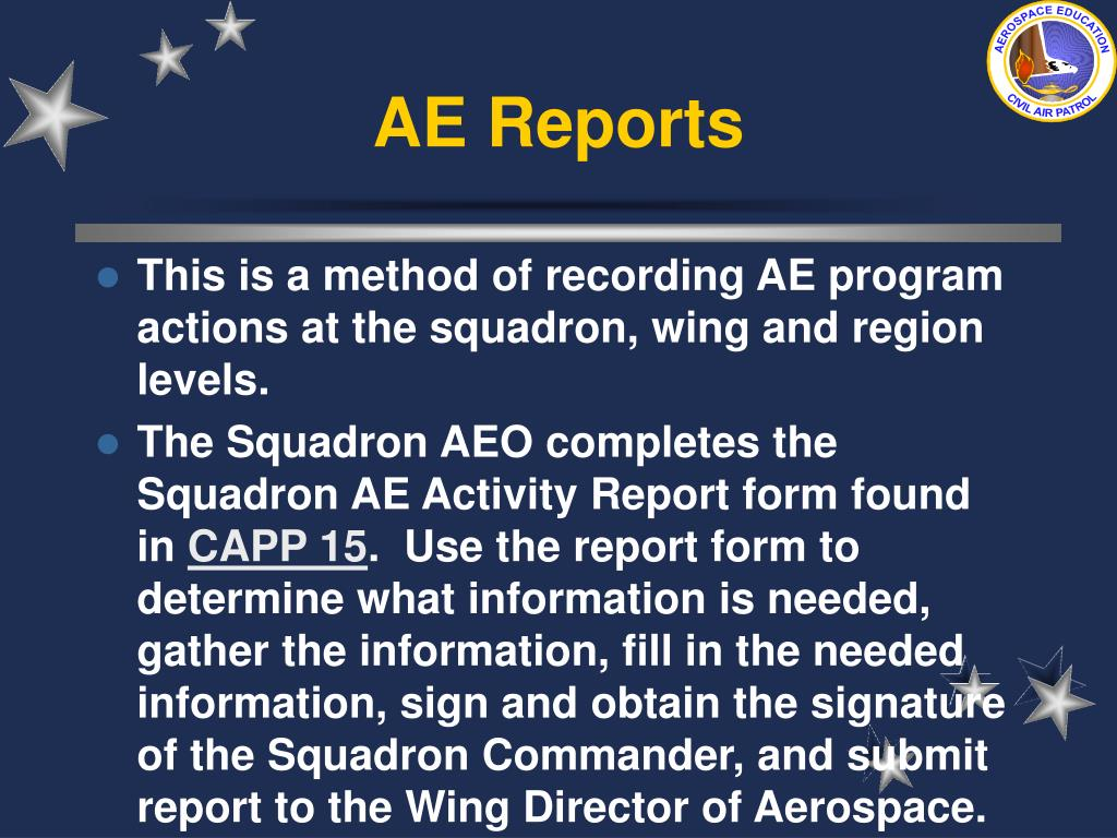 AE Reports