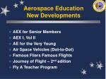 aerospace education new developments
