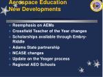 aerospace education new developments11
