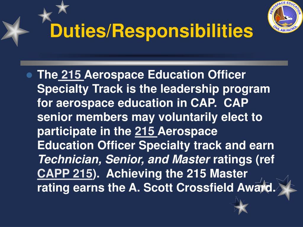 Duties/Responsibilities