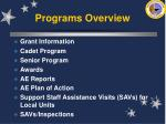 programs overview