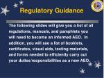regulatory guidance