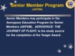 senior member program aepsm