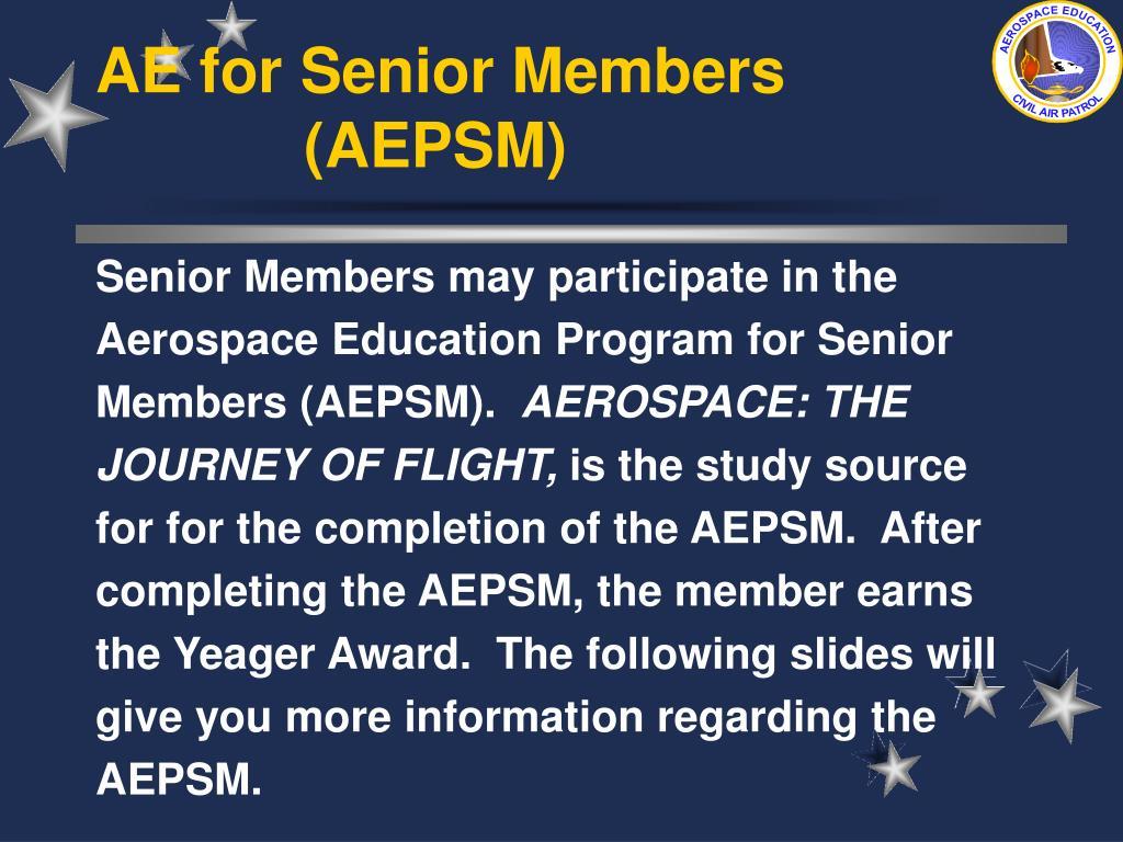 AE for Senior Members