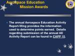 aerospace education mission awards56