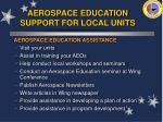aerospace education support for local units
