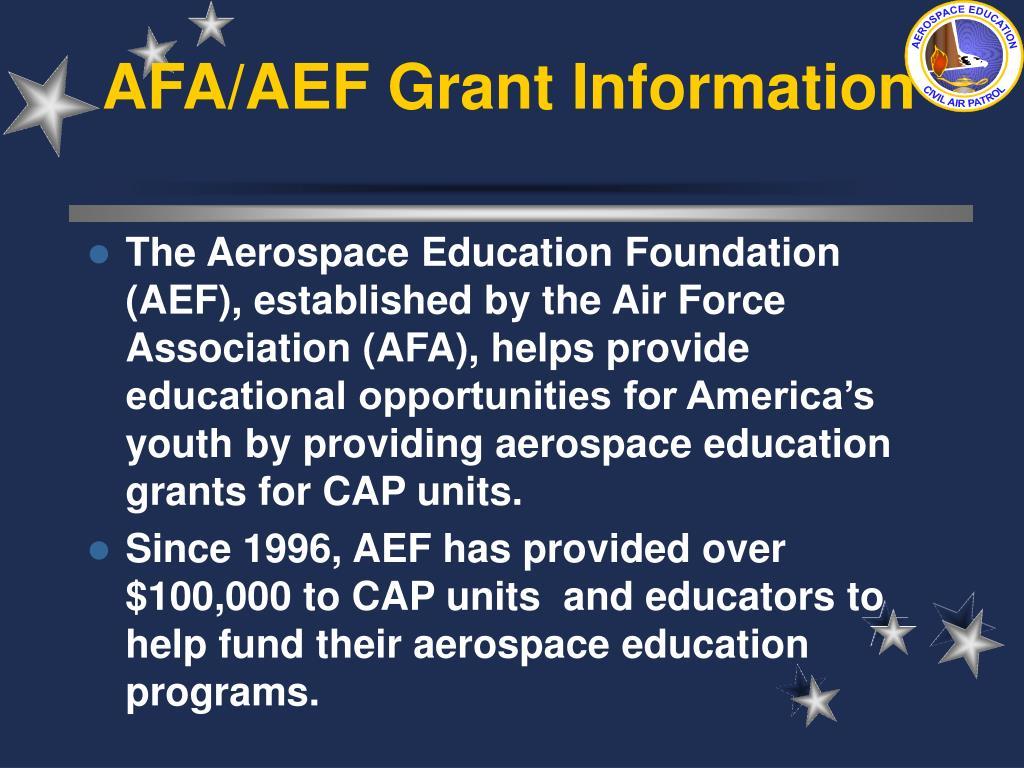 AFA/AEF Grant Information
