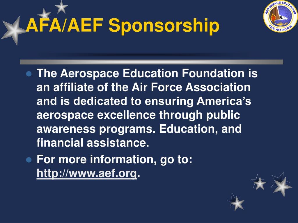 AFA/AEF Sponsorship