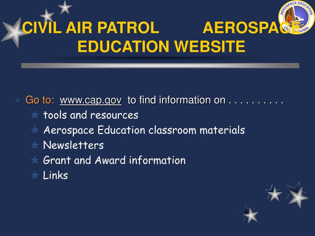 CIVIL AIR PATROL          AEROSPACE EDUCATION WEBSITE