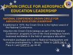 crown circle for aerospace education leadership