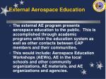 external aerospace education