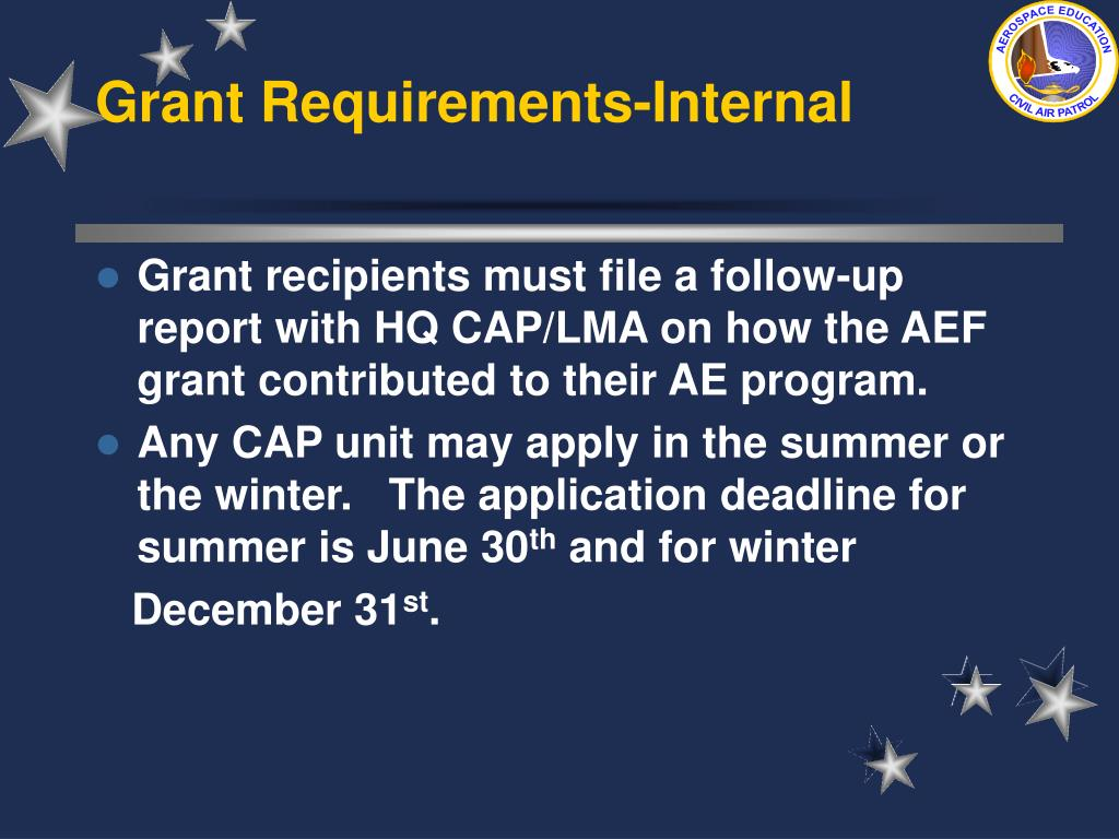 Grant Requirements-Internal