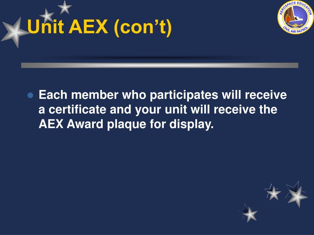 Unit AEX (con't)