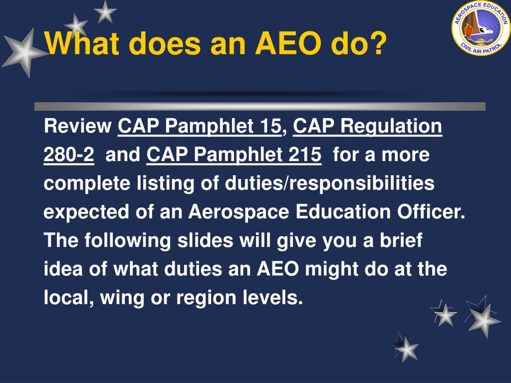 What does an AEO do?