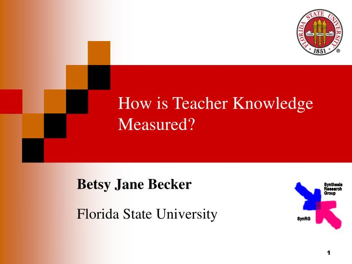 How is teacher knowledge measured l.jpg