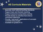 ae curricula materials