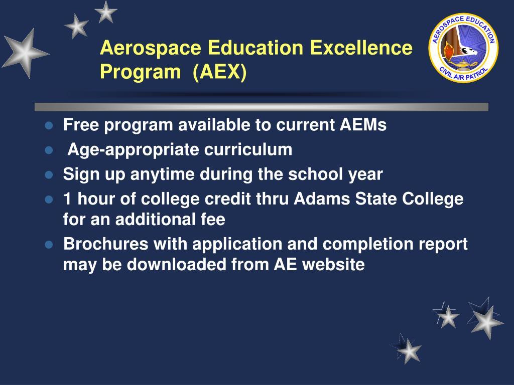 Aerospace Education Excellence Program  (AEX)