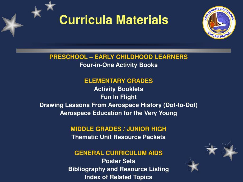 Curricula Materials