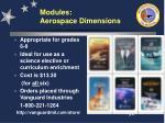 modules aerospace dimensions