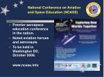 national conference on aviation and space education ncase