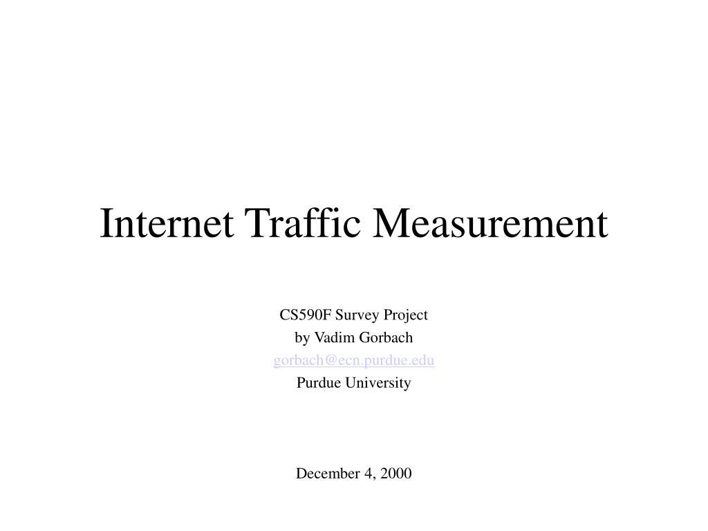 internet traffic measurement