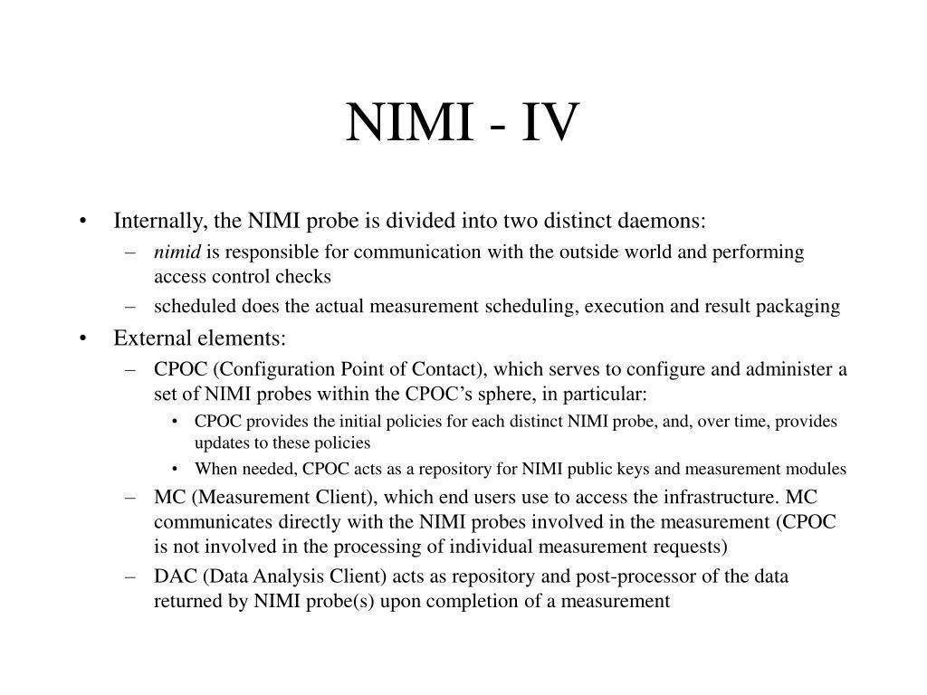 NIMI - IV