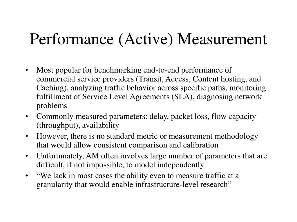 Performance (Active) Measurement