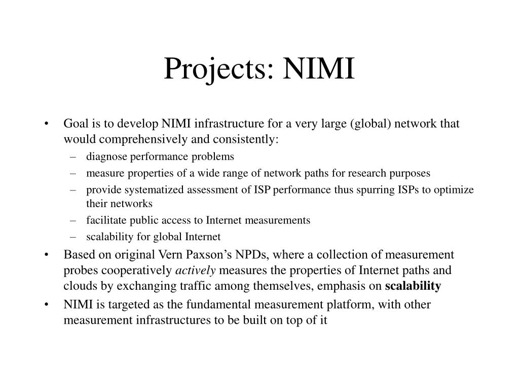 Projects: NIMI
