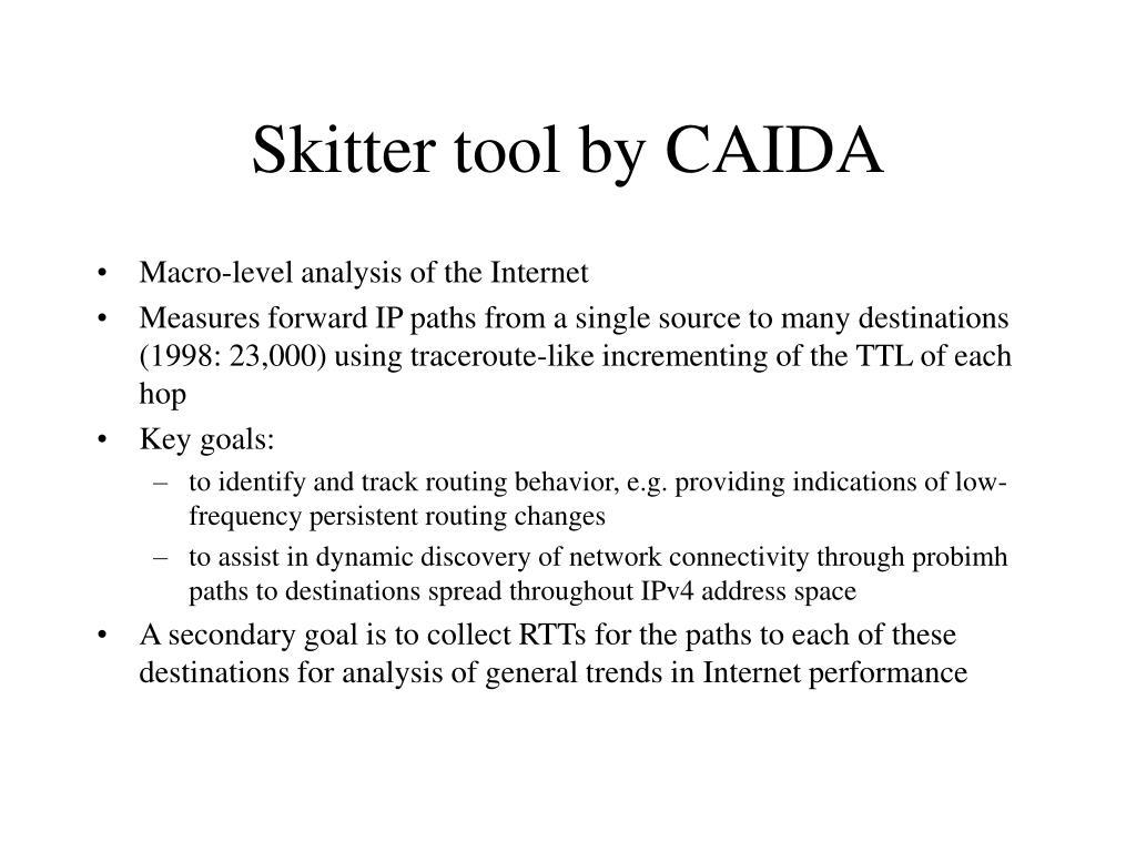 Skitter tool by CAIDA